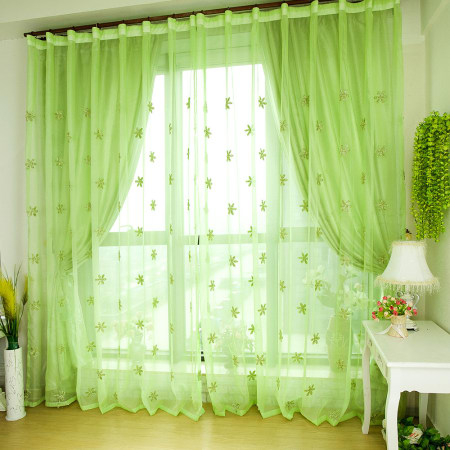 light green curtain images